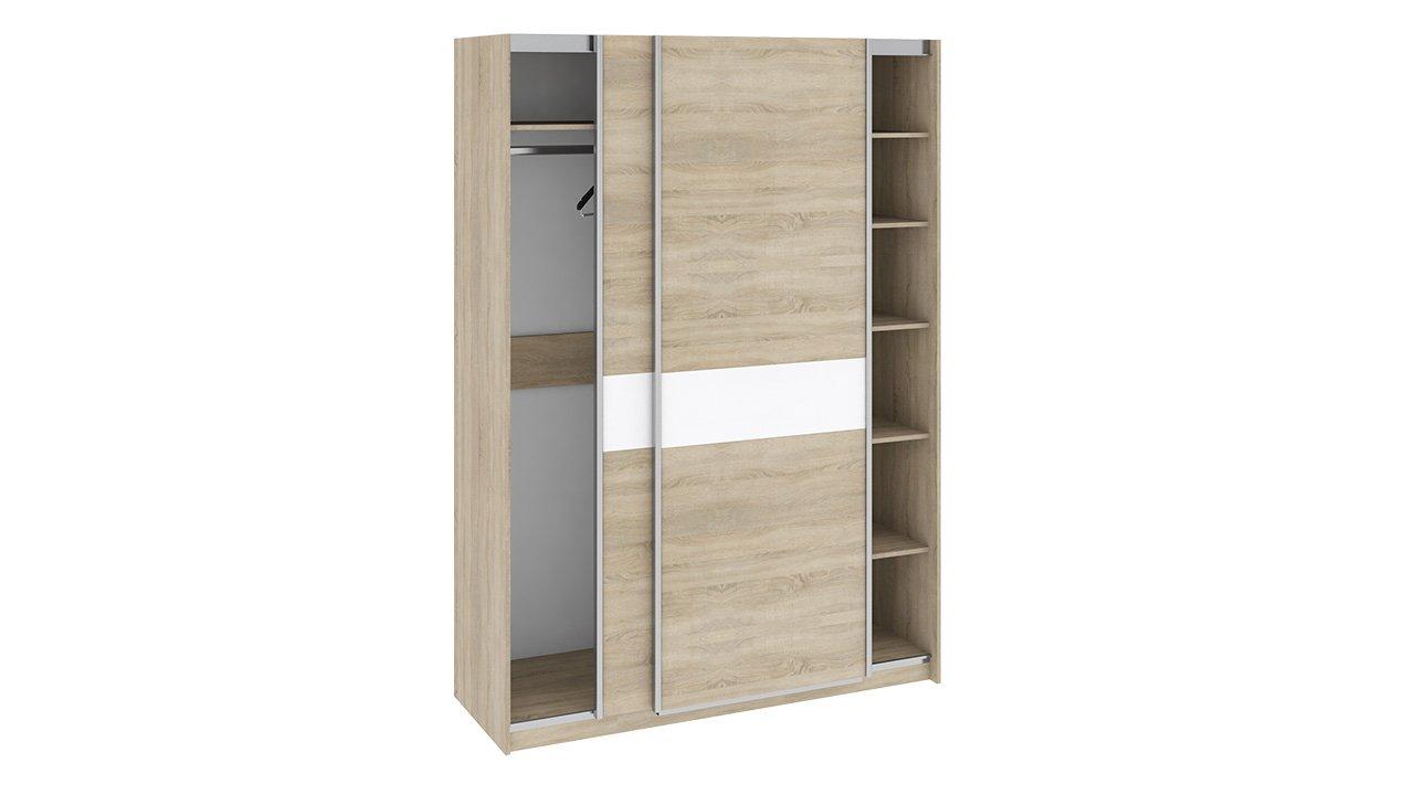 """Купить шкаф-купе для одежды """"ларго"""" см-181.09.001 белый глян."""