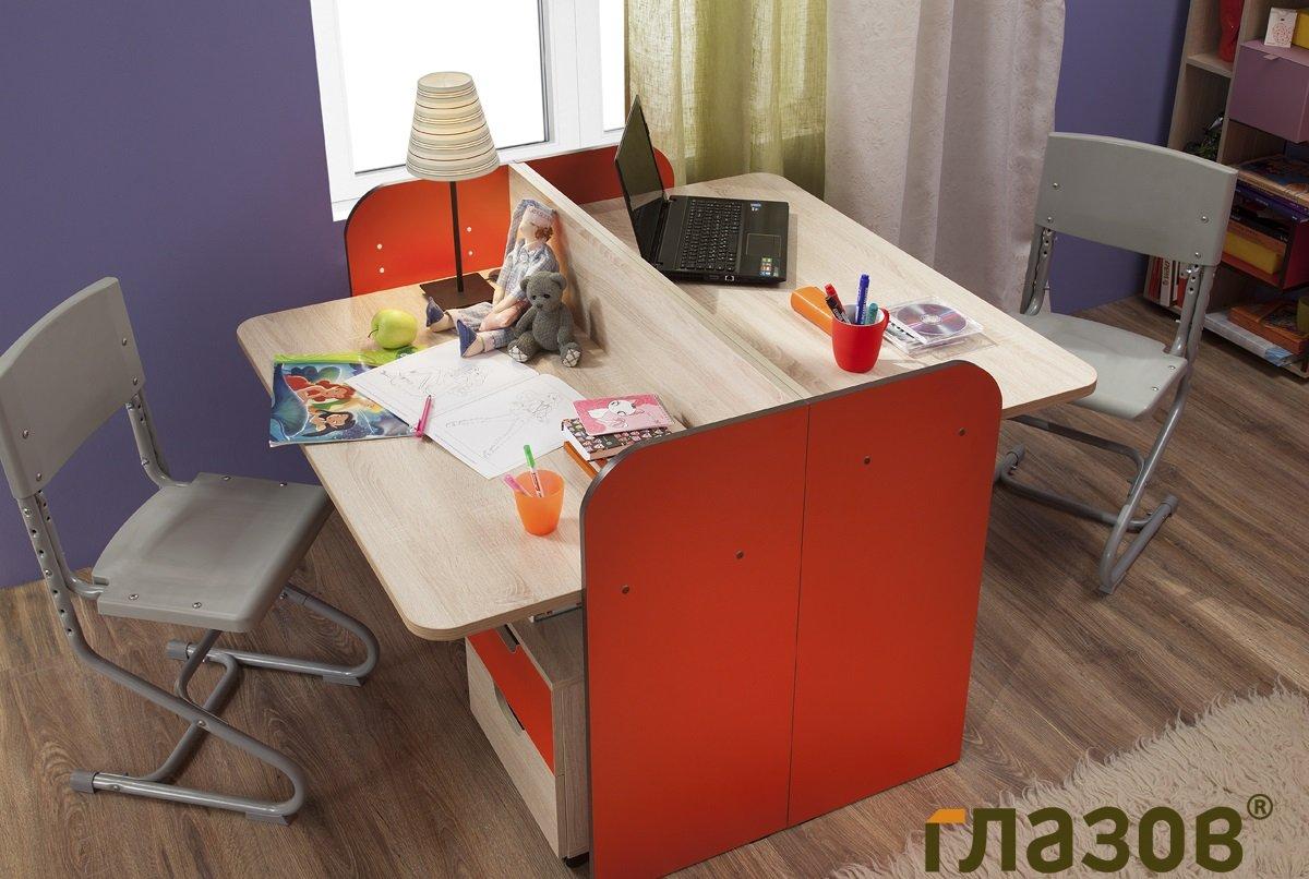 Письменный стол для двоих детей - фото дизайнерских новинок .