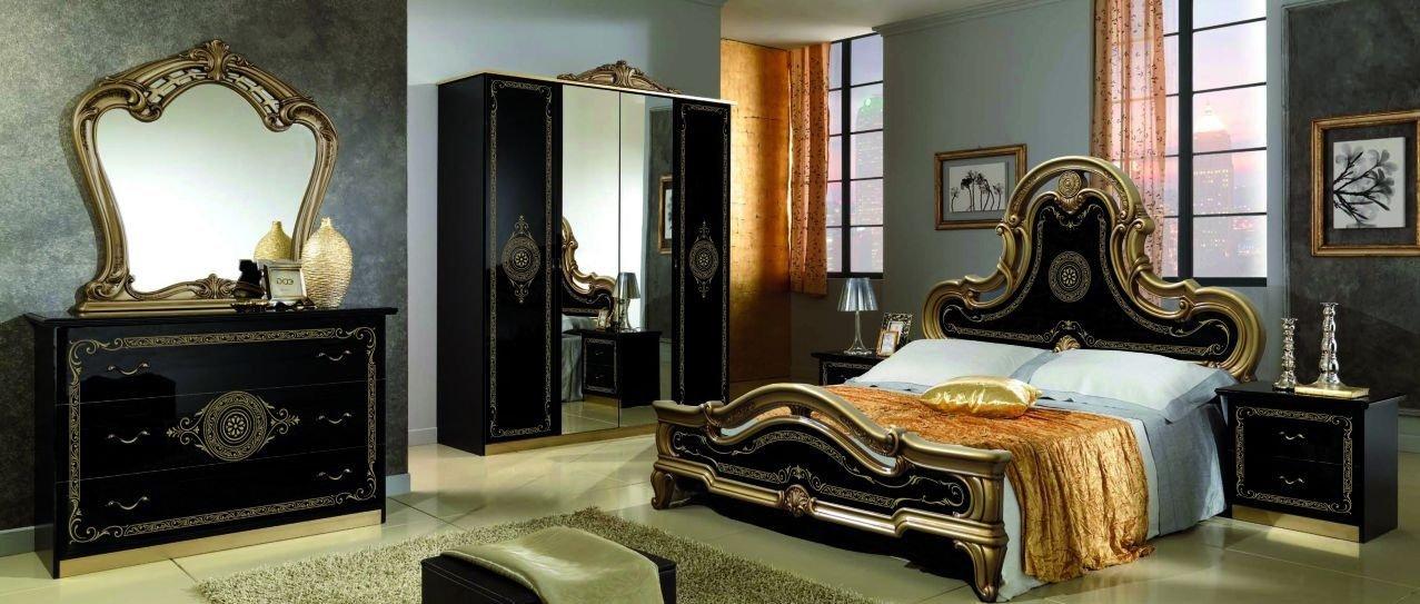 """Купить спальню """"леди"""" черная с золотом от мебельной фабрики ."""