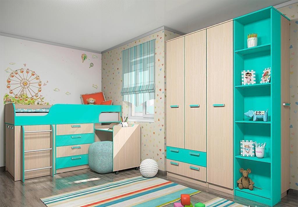 5158fa30c09 Купить детскую комнату «Рико» аква